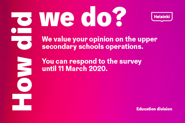 The customer satisfaction surveys will run from 26 February to 11 March 2020.