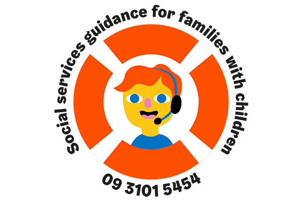 Ring the Family phone service at tel. 09 310 15454 on weekdays from 9 am to 12 pm.