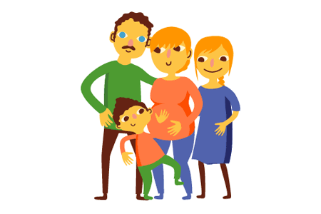Drawing of a family.