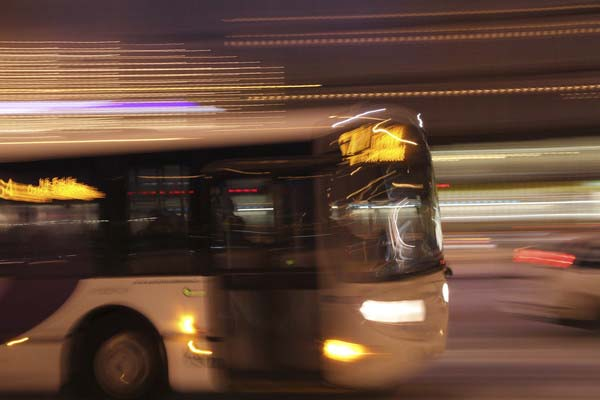 A night bus.