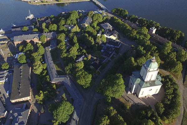 Suomenlinna from air.