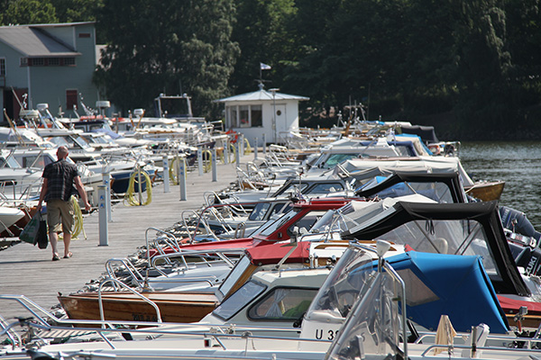 Boats at berth. Photo by Rene Röytiö.