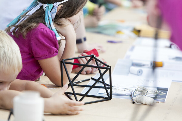 Kids in a design workshop. Photo: Aino Huovio, Helsinki Design Week