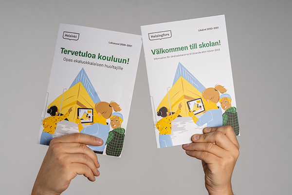 Future first-graders will receive a guidebook for the start of school (Tervetuloa kouluun) in late October or early November