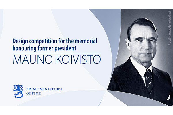 Design competition for the memorial honouring former president Mauno Koivisto.